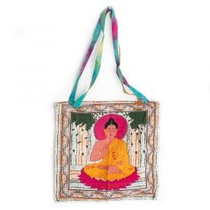 Tote Bag Katoen - Mediterende Boeddha (45 cm)