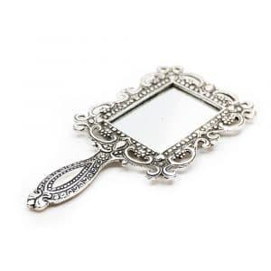 Traditionele Hand Spiegel Vierkant (18 cm)