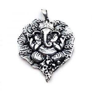 Hanger Ganesha Zilverkleurig (30 mm)