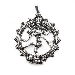 Hanger Shiva Zilverkleurig (35 mm)