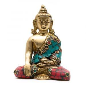 Boeddha Beeld Shakyamuni met Mozaïek Decoratie (7 cm)